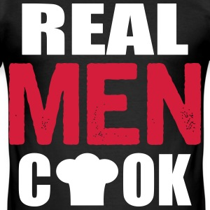 real men cook T-Shirts - Men's Slim Fit T-Shirt