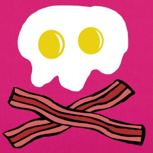 Eggs and Bacon skull Bags & Backpacks - EarthPositive Tote Bag