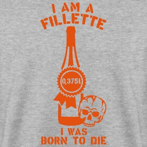 fillette 0 375 litres bouteille born die Sweat-shirts - Sweat-shirt Homme