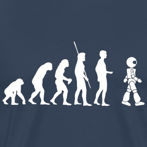 Evolution robot T-shirts - Herre premium T-shirt