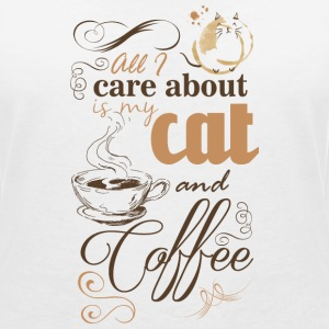 All i care about is my coffee and cat T-shirts - T-shirt med v-ringning dam