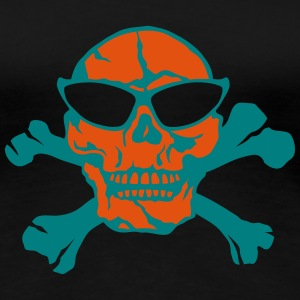 Death head skull pirate bone T-Shirts - Women's Premium T-Shirt