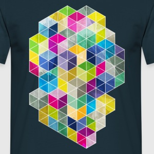 Dirty Polygon - Männer T-Shirt
