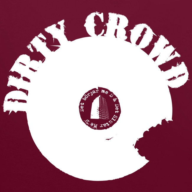 DIRTY CROWD HOODIE whiteprint