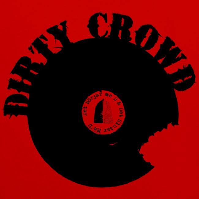 DIRTY CROWD HOODIE blackprint