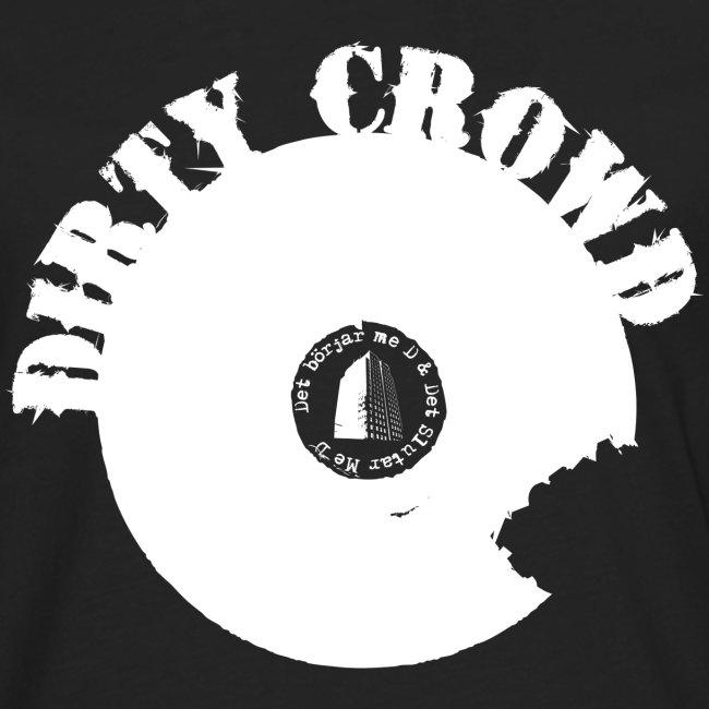 DIRTY CROWD LONGTEE whiteprint