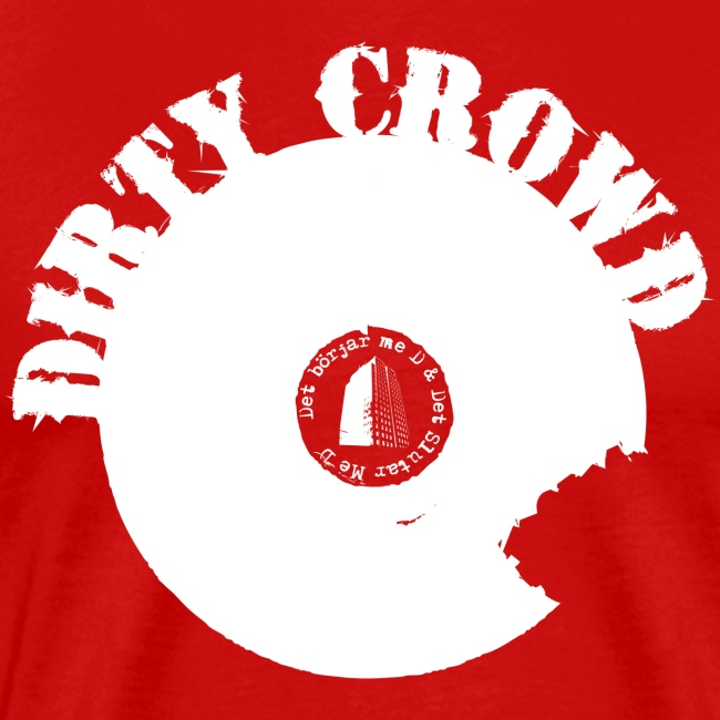 DIRTY CROWD TEE white print