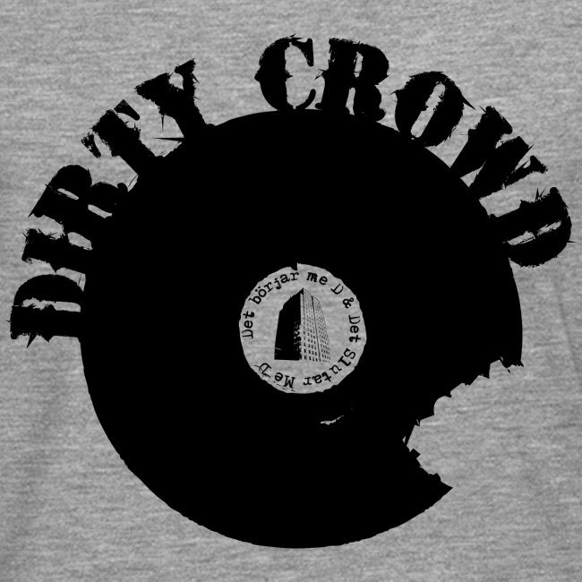 DIRTY CROWD LONGTEE blackprint
