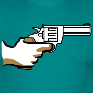 Weapons threaten gun revolver T-Shirts - Men's T-Shirt