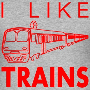 I like trains T-Shirts - Men's Slim Fit T-Shirt