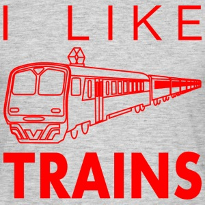 I like trains T-Shirts - Men's T-Shirt