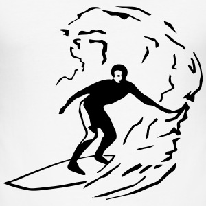 Wave & Surfing T-Shirts - Men's Slim Fit T-Shirt