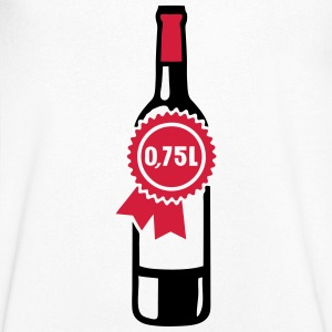 0 75 liters size bottle capacity alcohol T-Shirts - Men's V-Neck T-Shirt