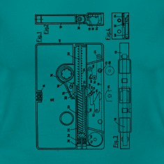 Blueprint of a cassette - Vintage Music Design T-Shirts
