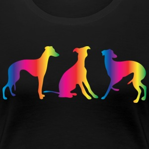 Three little colourful whippets - Women's Premium T-Shirt
