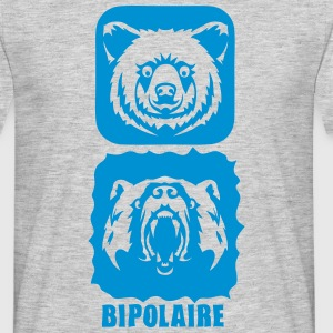 ours bipolaire caractere mechant gentil Tee shirts - T-shirt Homme