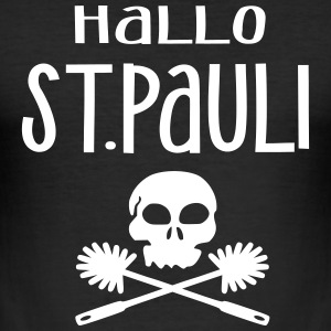 Hallo St. Pauli - Männer Slim Fit T-Shirt