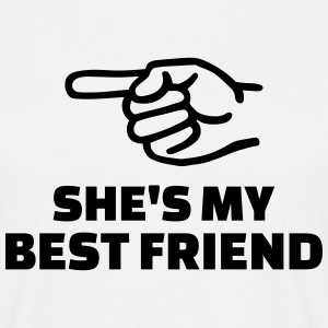 She's my best friend T-Shirts - Männer T-Shirt