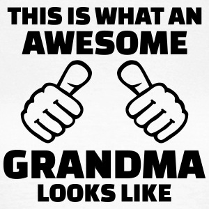 Awesome grandma T-Shirts - Frauen T-Shirt