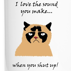 Cat shut up Bouteilles et Tasses - Mug thermos