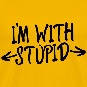 I'M WITH STUPID - Männer Premium T-Shirt