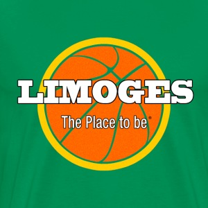 Limoges The place to be , Limoges basketball - T-shirt Premium Homme