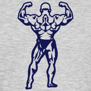 bodybuilder pose dos biceps debout 1506 Tee shirts - T-shirt Homme