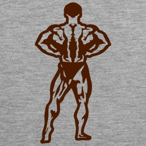 Bodybuilder pose standing biceps 1506 Sports wear - Men's Premium Tank Top