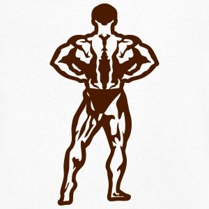 Bodybuilder pose standing biceps 1506 T-Shirts - Men's V-Neck T-Shirt