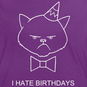 anniversaire Chat Tee shirts - T-shirt contraste Femme