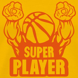 basketball super play muscular arm flight T-Shirts - Men's Premium T-Shirt