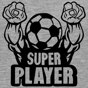 football soccer super player bras muscle Manches longues - T-shirt manches longues Premium Homme