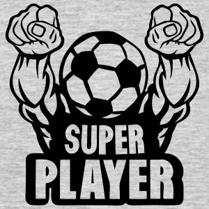football soccer super play muscular arm T-Shirts - Men's T-Shirt