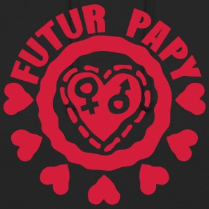 papy futur love coeur symbole fille garc Sweat-shirts - Sweat-shirt à capuche unisexe