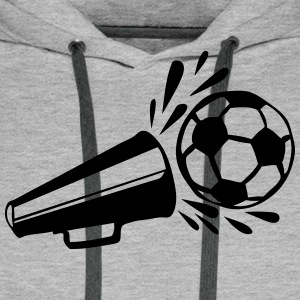football soccer old Voice-over Hoodies & Sweatshirts - Men's Premium Hoodie