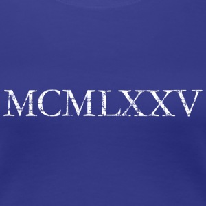 MCMLXXV Year 1975 Roman birthday year T-Shirts - Women's Premium T-Shirt