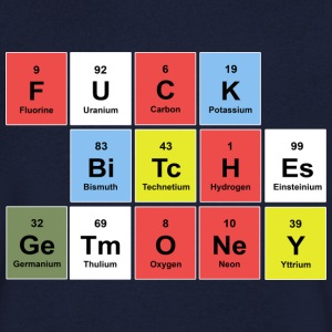 FUCK BITCHES earn money (periodic table) T-shirts - Herre T-shirt med V-udskæring