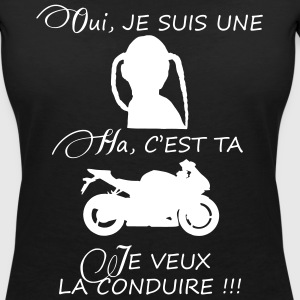 oui je suis une motarde by DK Tee shirts - T-shirt col V Femme