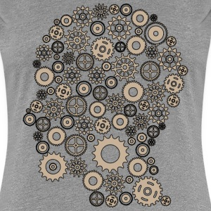 Gear head one colour beig T-Shirts - Frauen Premium T-Shirt