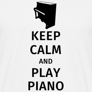 keep calm and play piano Koszulki - Koszulka męska