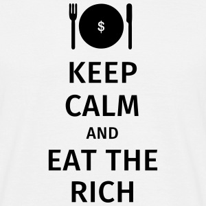 keep calm and eat the rich Camisetas - Camiseta hombre