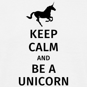 keep calm and be a unicorn Tee shirts - T-shirt Homme