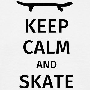 keep calm and skate T-shirts - T-shirt herr