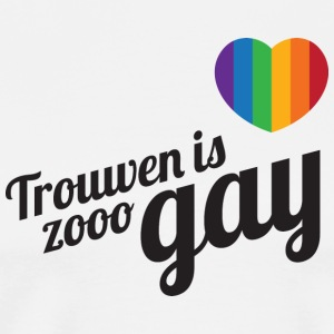 Trouwen is zooo gay T-shirts - Mannen Premium T-shirt
