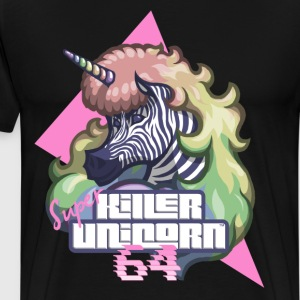 Super Killer Unicorn 64 - T-shirt Premium Homme