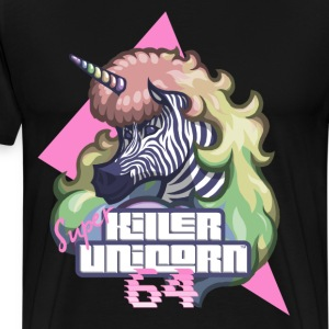 Super Killer Unicorn 64 - Herre premium T-shirt