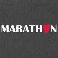 Motiv ~ Schultertasche: I love running Marathon