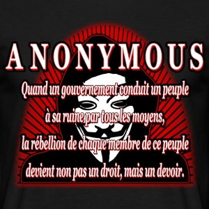 anonymous Tee shirts - T-shirt Homme