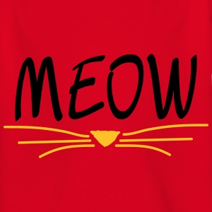 Red MEOW cat Shirts - Kids' T-Shirt