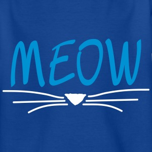 Bleu royal MEOW-chat Tee shirts - T-shirt Enfant